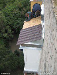 Установка крыш балконов. монтаж ремонт балконных и входных к.