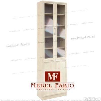 Шкаф библиотека шк-2/4 fabio - закрытый - со стеклом - цвет .