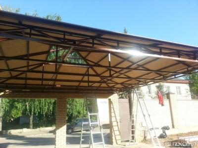 Четырехскатная крыша из поликарбоната