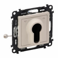 Переключатель ValenaLIFE кнопочный с ключом,3 положения,с самовозвратом 10А