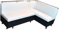 Кухонный диван угловой белый с левым углом ЛЮКС кожзам