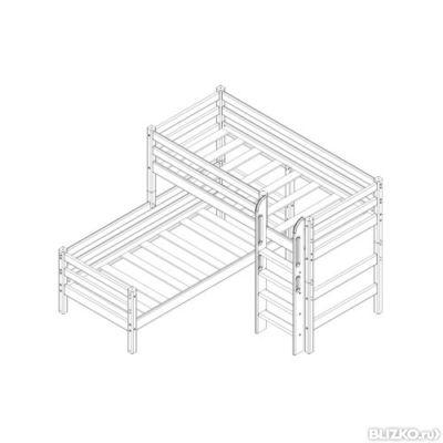 угловая кровать соня вариант 7 с прямой лестницей мебельград
